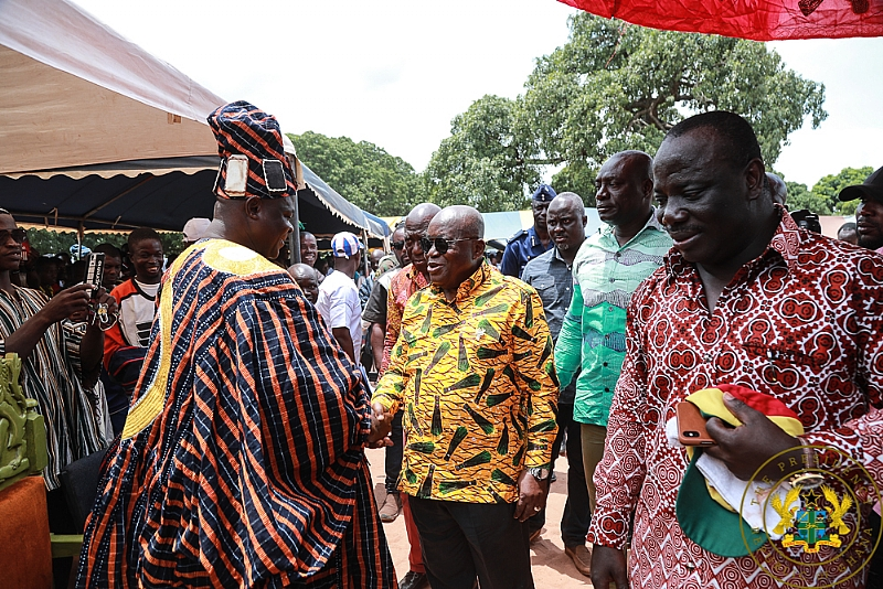 Kpandai Chiefs Eulogise Akufo-Addo, 'Your Name Will Remain Indelible Forever'