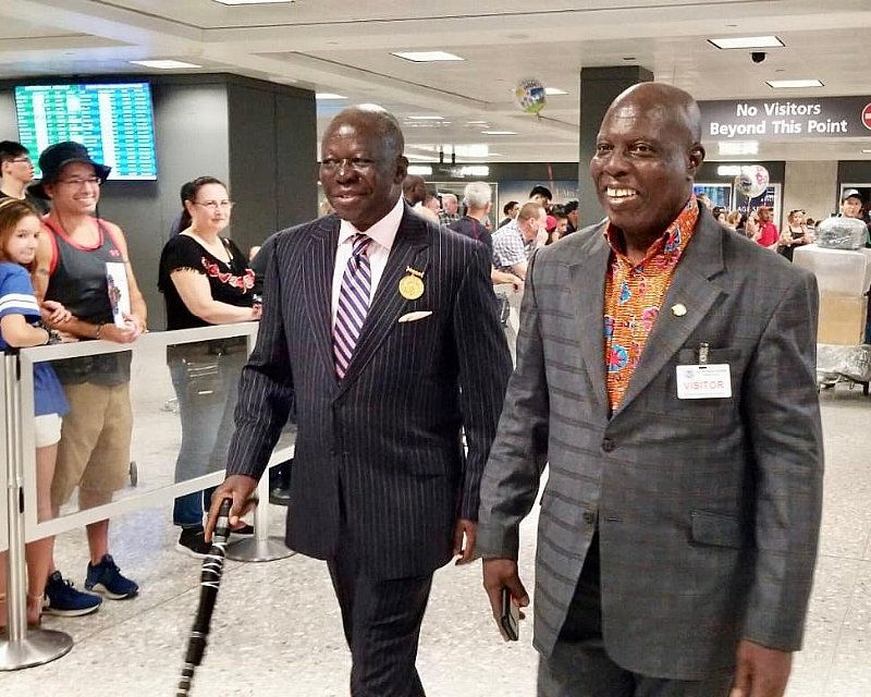 PHOTOS: Asantehene Arrives in the United States