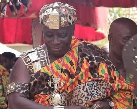 Okyenhene Tours Selected Towns In Akyem