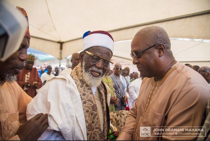 Mahama, Bawumia, Clash At Chief Imam's Late Sister funeral