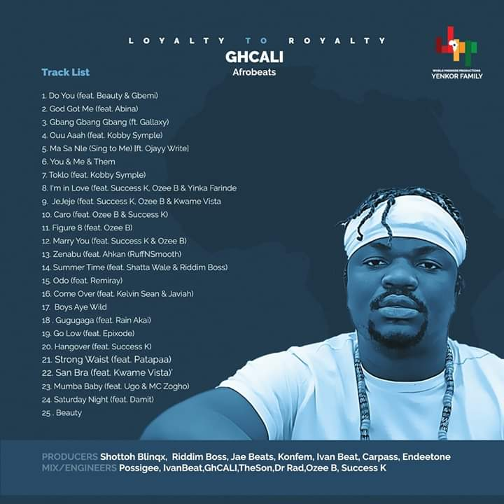 GhCALI Releases First Album Titled,