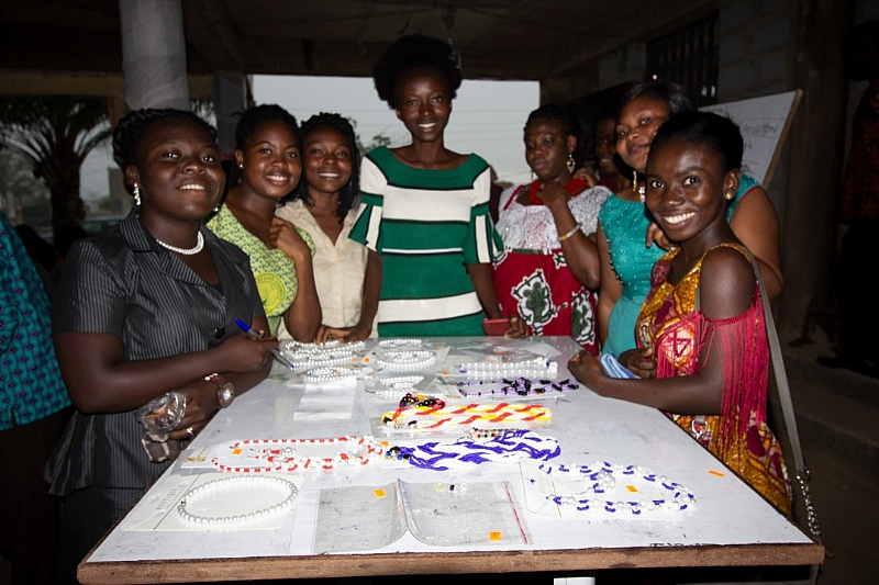 NGO Empowers Young Girls Through Beads Making