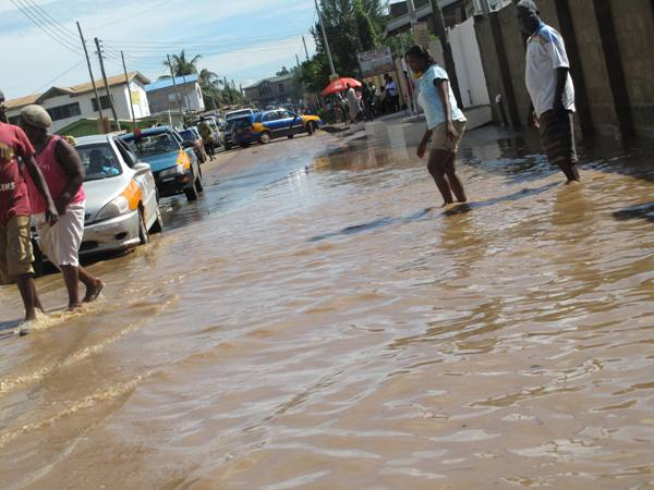 Mayor Of Accra Inspects Flood Prone Areas