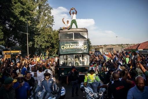 'Warrior' Springboks parade World Cup through streets of Soweto