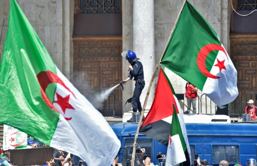Algeria Protesters Push Through Police Against Elite Rule