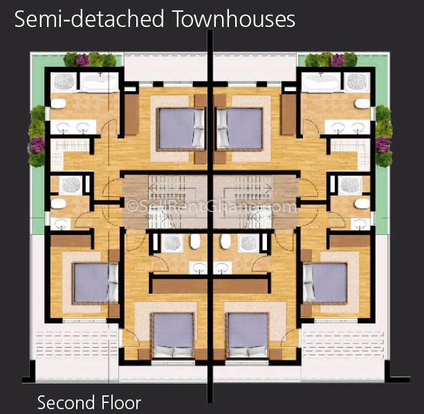 4 Bedroom Townhomes: 4 Bedroom Townhouse + Staff Qtrs, Airport Resident