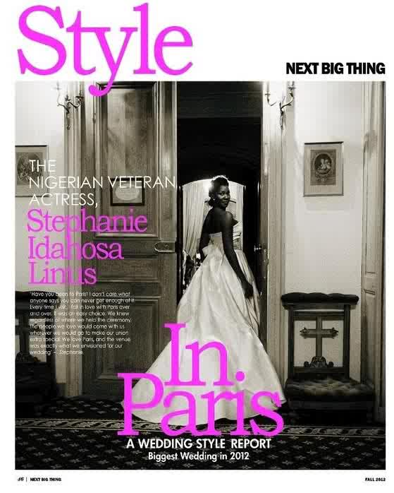 Stephanie Okereke 39 S Wedding Adorns Canadian Fashion