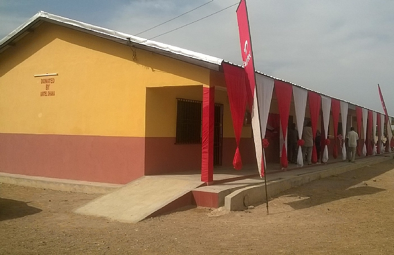 Modern Classroom Blocks : Airtel ghana commissions reconstructed state of the art