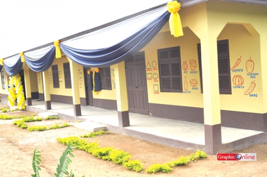 Modern Classroom Blocks : Gcb provides classroom block for fawoman basic school