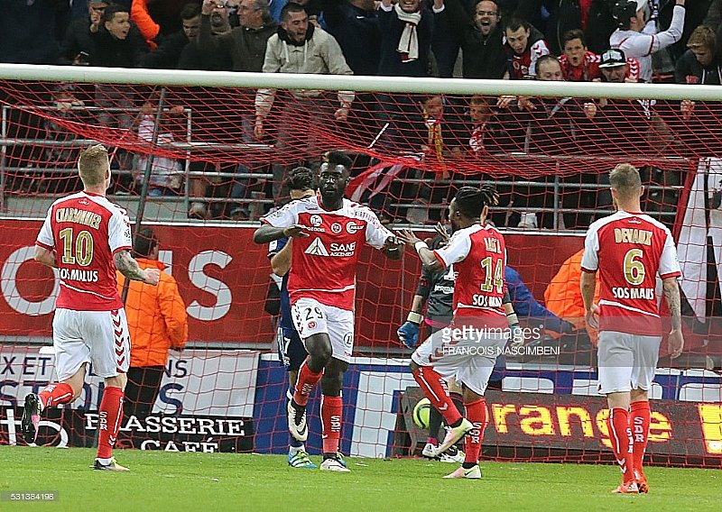 ghanaian striker grejohn kyei scores in stade de reims emphatic win over lyon in france. Black Bedroom Furniture Sets. Home Design Ideas