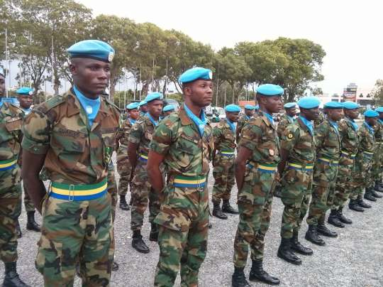 Ghanaian Soldiers Receive Medals In Southern Sudan