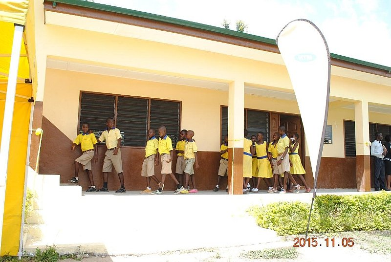 Modern Classroom Blocks : Mtn provides six unit classroom block for over pupils