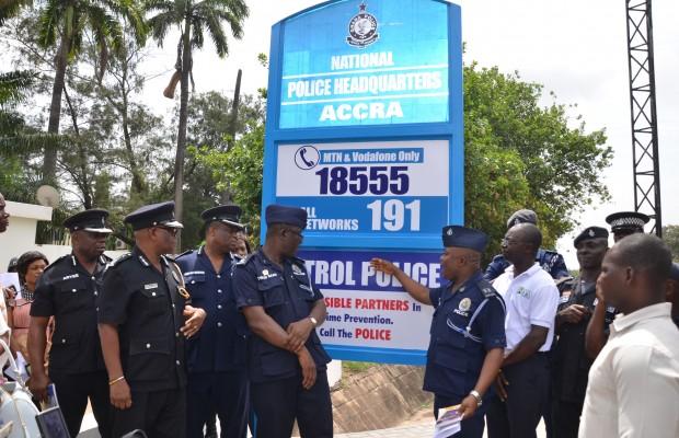 police headquarters unveil signage
