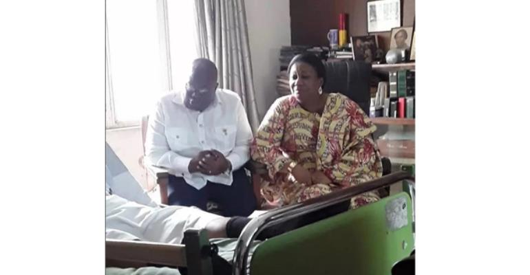 President Akufo-Addo and First Lady during the visit