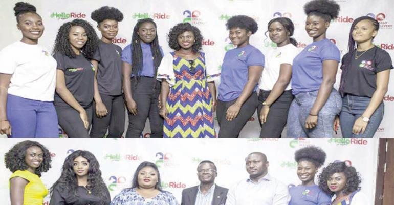 Martha Ankomah and others at the launch of Hellodelivery