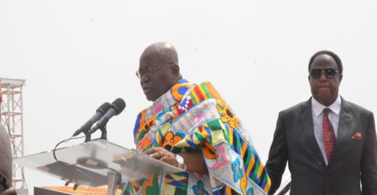 President Akufo-Addo giving his inaugural speech