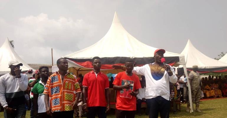The NDC Western Regional Chairman, Nana Toku on your right with the Defectors