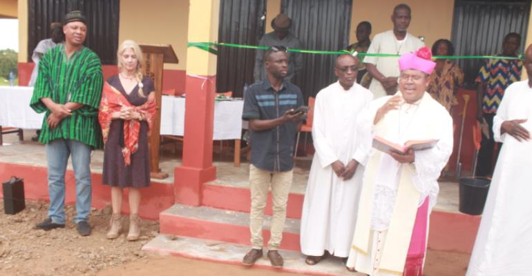 Catholic Diocese Of Damongo Constructs Six-Unit Classroom Block,Office Complex At Canteen