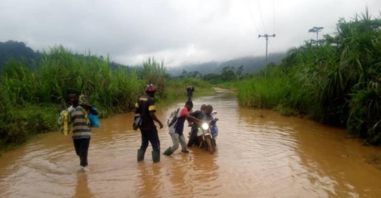 Rains Cut Off Akanteng Community