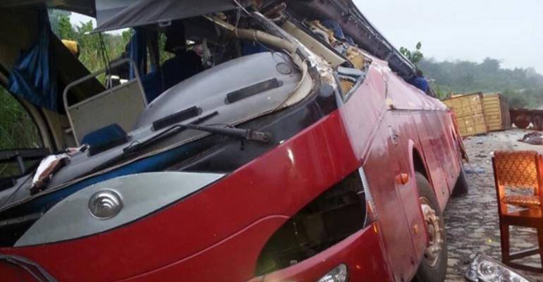 Nkakaw Accident Involving Yutong Bus Kills 10, Several Others Injured