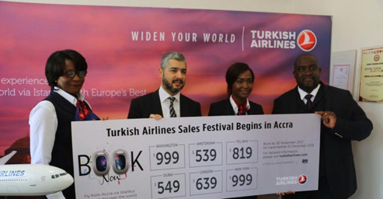 Officials of Turkish Airlines at the launch