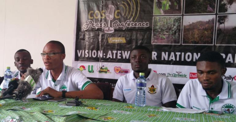 Leaders of the students group at the press conference