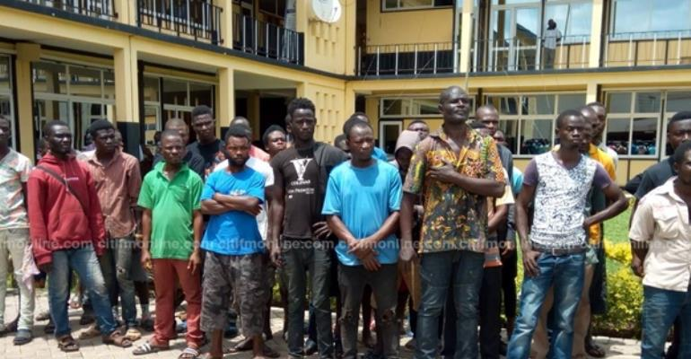 Police In Ashanti Region Raid Brothel Base...245 Drug Peddlers, Prostitutes Arrested