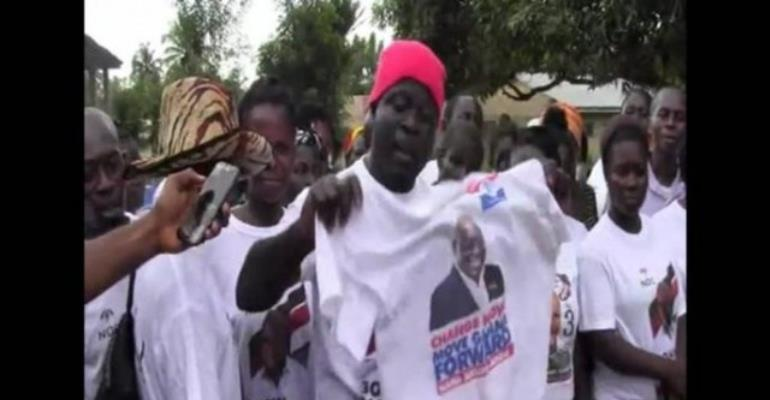 Political Group Burn Akufo-Addo Tee-Shirts...As They Defect To NDC