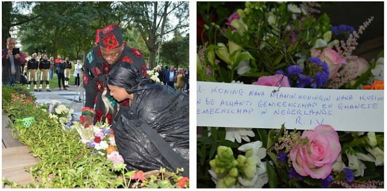 Ghanaian Dignitaries Pay Homage To Survivors And Relatives Of Victims Of El Al Flight 1862 Plane Crash (4th Oct 92 Bijlmerramp)