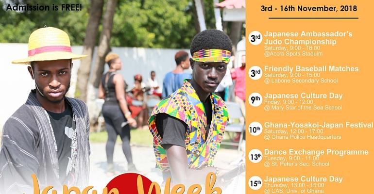 Japanese Embassy Set To Hold 2018 Japan Week Festival In Ghana
