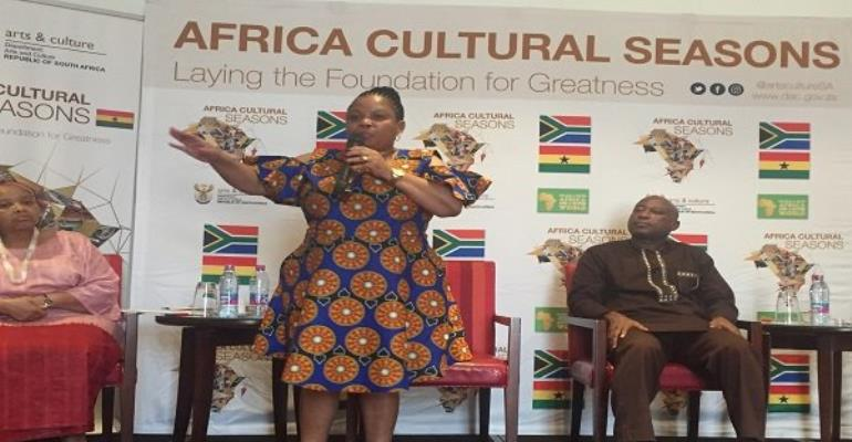 South Africa's Deputy Minister for Arts and Culture, Maggie Makhotso Sotyu