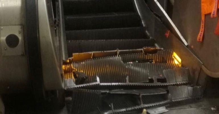 Football Fans Injured As Escalator Collapses At Rome Underground Station