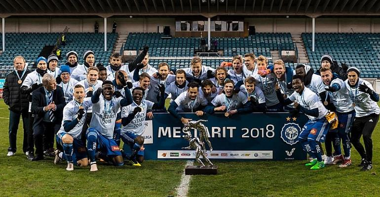 Anthony Annan And Evans Mensah Win League In Finland With HJK Helsinki