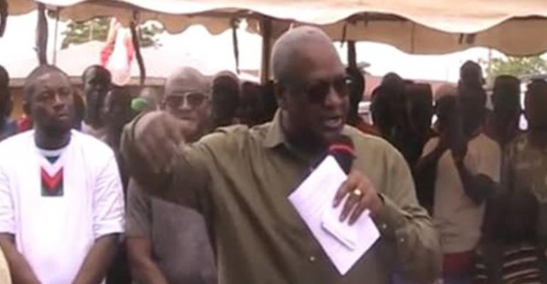 Dream More To Solve Challenges Facing Ghana - Mahama Jabs President Akufo-Addo