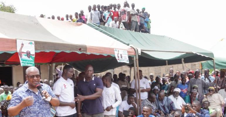 Mr. John Dramani Mahama at Zabzugu Constituency
