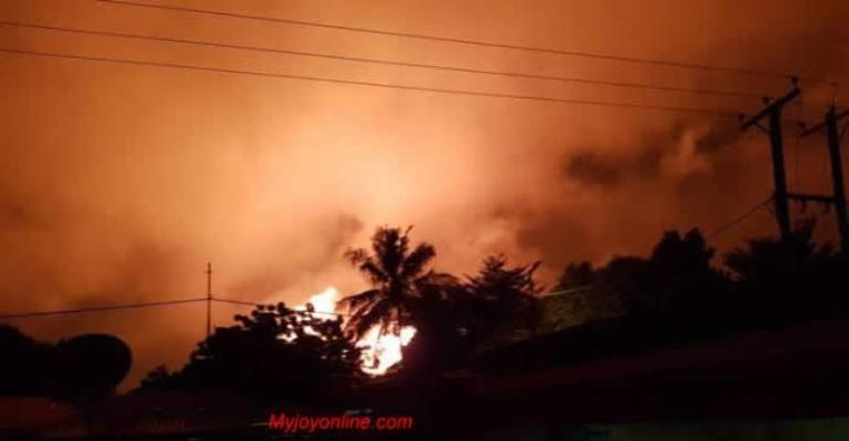 People Seen Running Following Gas Explosion in Accra