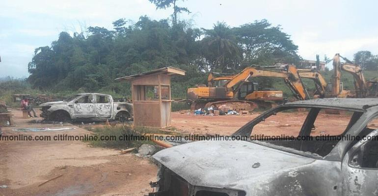 Angry Wassa Akropong Youth Hunt Down Chinese Nationals