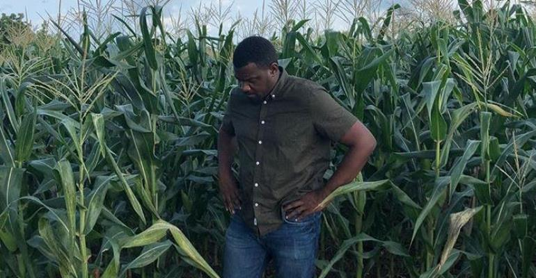 Actor, John Dumelo Shows off his 156 Acres of corn Plantation