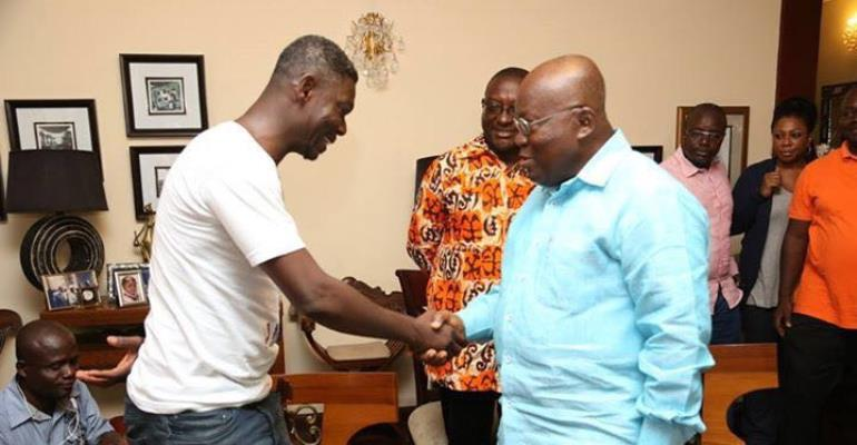Agya Koo with PresidentNana Akufo-Addo