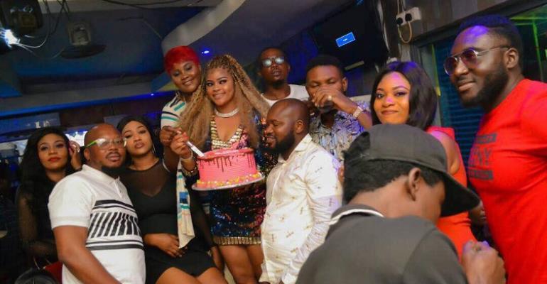 Photos from Birthday party of Nollywood curvy actress Emmanuella Iloba