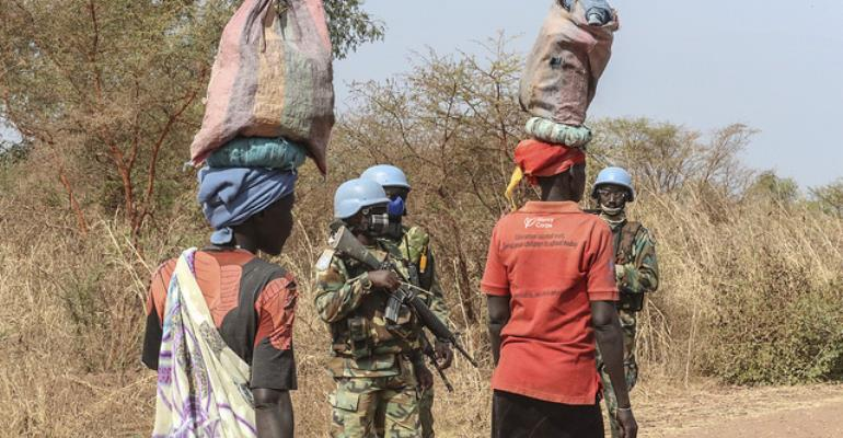 Ghanaian Peacekeepers In South Sudan Carry Out Patrols To Help Women Safely Gather Firewood