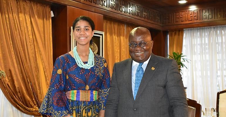 Zuriel Oduwole welcomed To Ghana by President Akuffo Addo