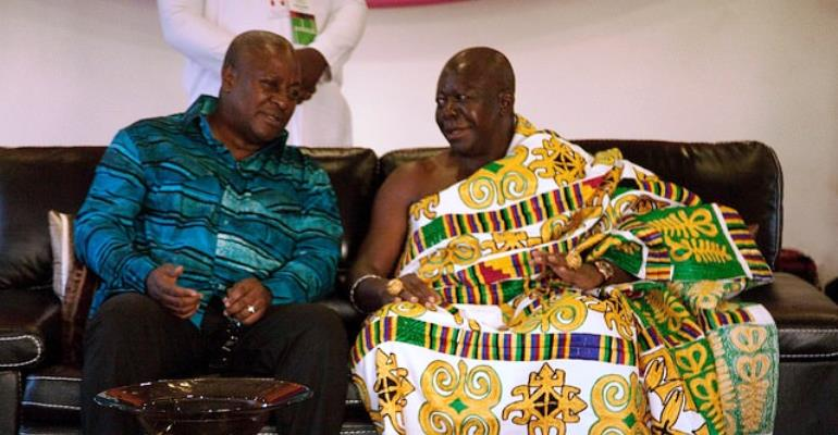 Mahama copies Asantehene in withdrawal letter over bungalow