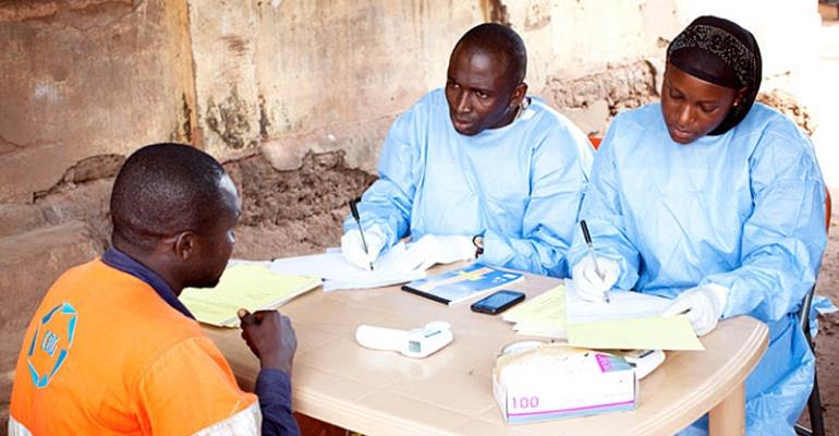Volunteers for the Ebola trial
