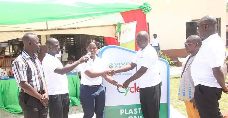 Corporate Communications Manager of Vivo Energy Ghana, Mrs. Shirley Tony Kum