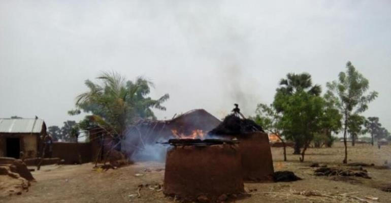 Over 150 homes are believed to have been burnt in the clashes