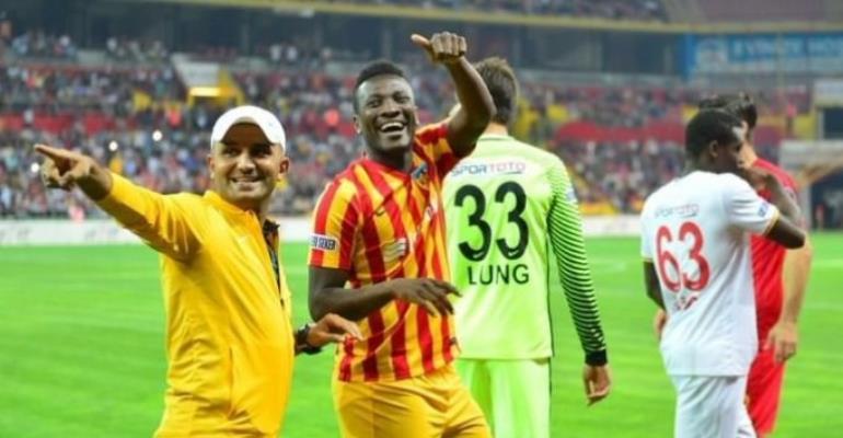 Kayserispor President Erol Bedir Hails Asamoah Gyan's Hardwork