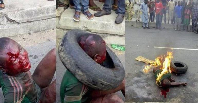 Unspeakable: Wicked Crowd Lynch 7-year Old To Death In Lagos