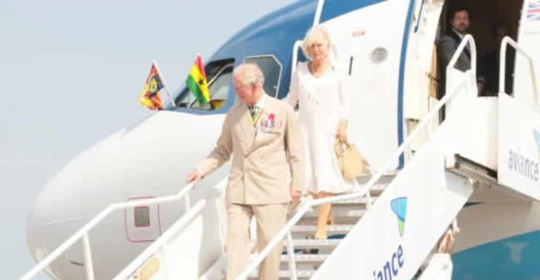 The British Royals arrived at the Kotoka International Airport on Friday