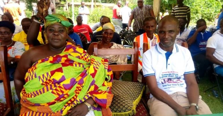 Emmanuel Mensah and Queenmother of New Edubiase, Nana Akua Dwomo II